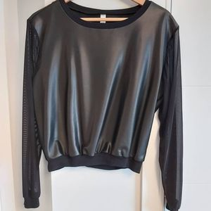 American Apparel leather top